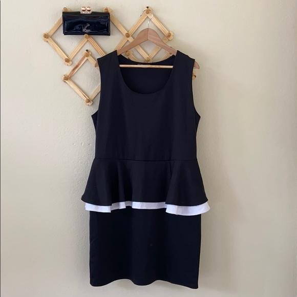🌾 Pinc • Ponte Peplum Dress